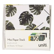 Uniti Mini Paper Stack Printed 6x6 24 Sheets Wild