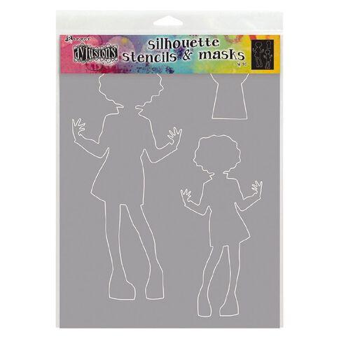 Ranger Dylusions Stencil Silouhette Maisie