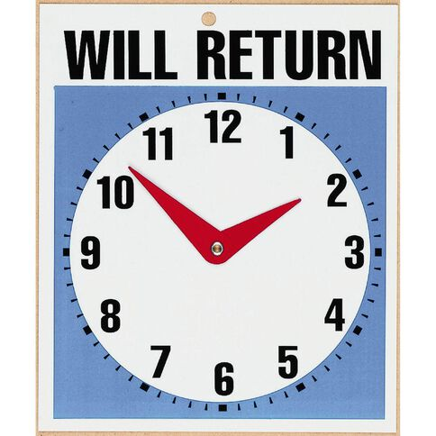 Headline Sign Will Return Clock