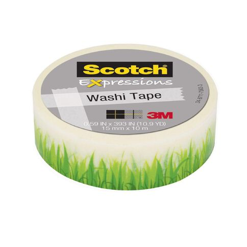 Scotch Washi Craft Tape 15mm x 10m Grass