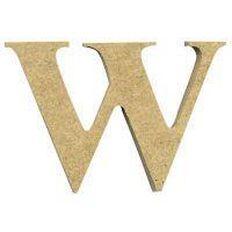 Sullivans Mdf Board Alphabet Letter 6cm W Brown