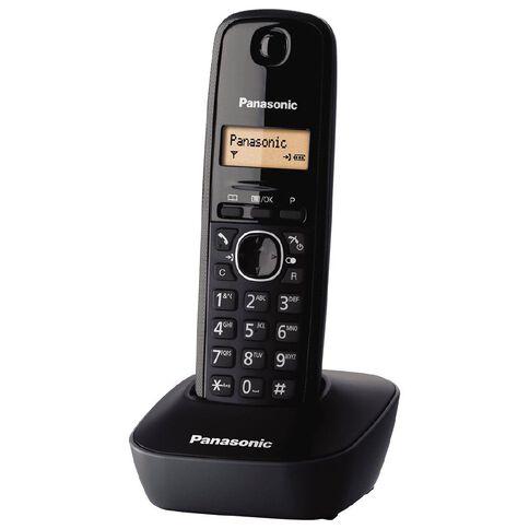 Panasonic KX-TG1611 Single Cordless Handset Black Black