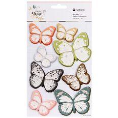 Rosie's Studio Twig & Twine Butterflies 8 Piece Multi-Coloured