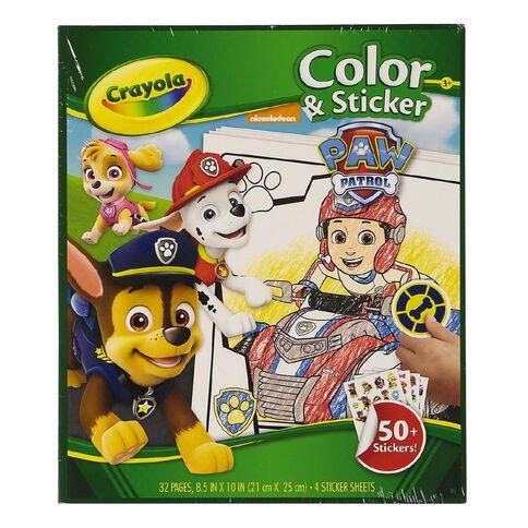 Crayola Color & Sticker Book Paw Patrol