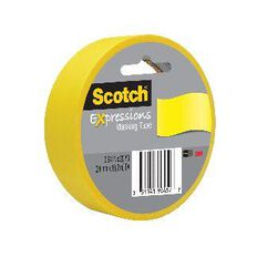 Scotch Masking Craft Tape 25mm x 18m Primary Yellow