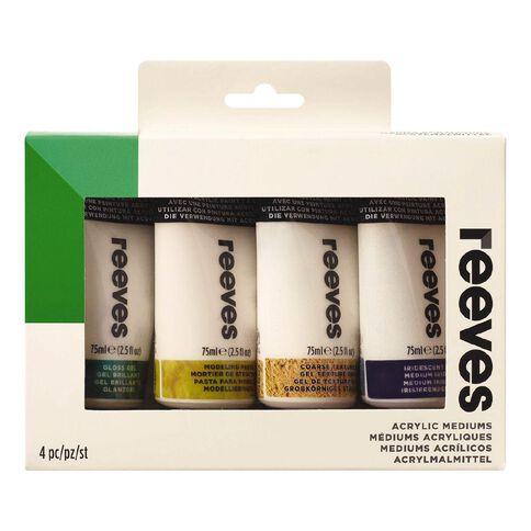 Reeves Acrylic Mediums Set 4 75ml 75ml