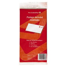New Zealand Post Postage Included Envelope DLE 10 Pack