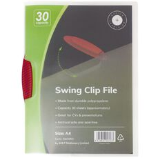 Office Supply Co Swingclip 1-30 Sheets Red A4