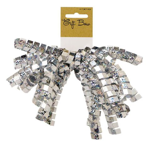 Artwrap Holographic Crinkle Bow Silver