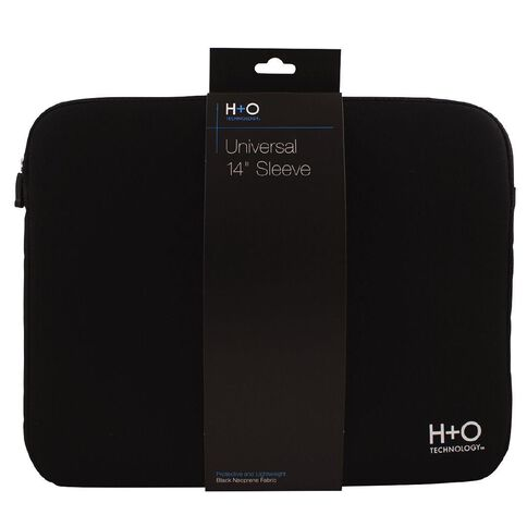 H+O Technology 14 inch Laptop Sleeve Black