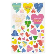 Rosie's Studio Lets Get Together Epoxy Heart Stickers