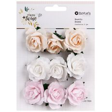 Rosie's Studio Twig & Twine Rustic Roses 9 Piece Multi-Coloured