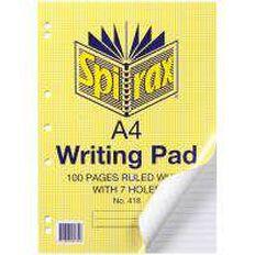 Spirax Pad 100 Leaf Ruled 7 Holes White A4