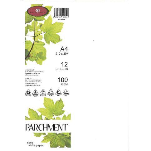 Direct Paper Parchment Paper 100gsm 12 Pack Nova White A4