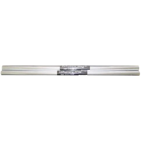 GBP Stationery Cellophane 2m x 70cm Clear
