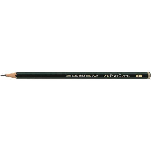 Faber-Castell 9000 Artist Pencil 3H Black