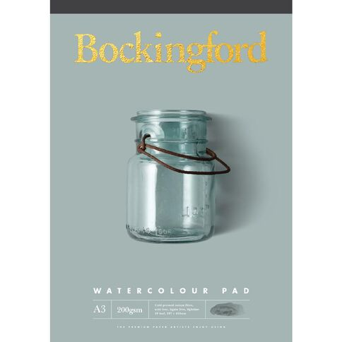 Bockingford Watercolour Pad 200gsm 20 Leaf A3