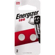 Energizer Alkaline Button Battery 186 2 Pack