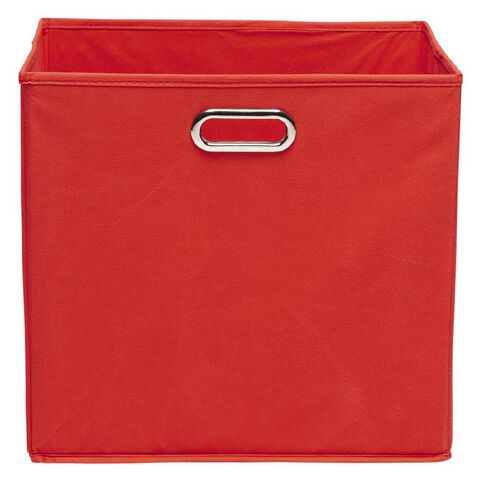 Workspace Storage Box Folding 9 & 12 Cube Red