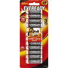 Eveready Super Heavy Duty Batteries AA 24 Pack