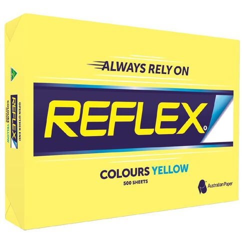 Reflex Paper 80gsm Tints 500 Pack Yellow A3
