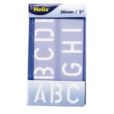 Helix Stencil Lettering 50mm Purple