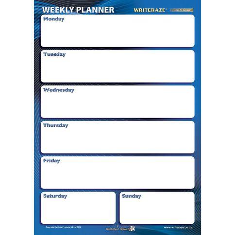 Writeraze Nifty Week Card Planner 245 x 345mm Laminated White