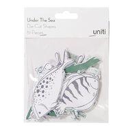 Uniti Under The Sea Cardstock Die Cuts 51 Pieces