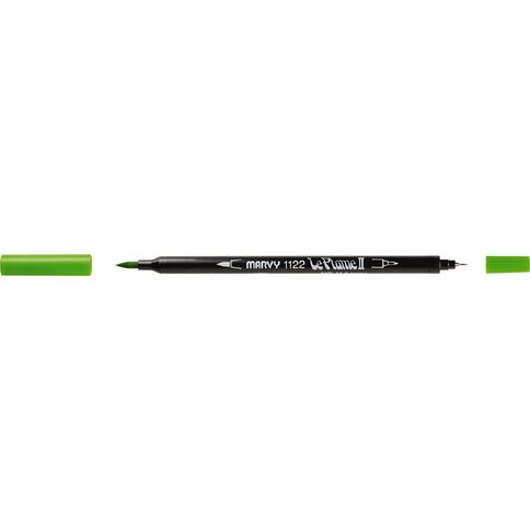 MARVY Le Plume II Dual Tip Marker Light Green