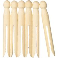 Kookie Wooden Pegs 6 Pack