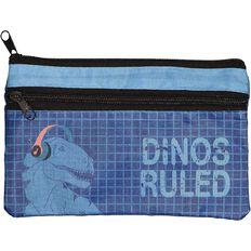 Kookie Dinosaur Flat Pencil Case