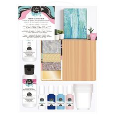 American Crafts Color Pour Resin Starter Kit 31 Piece