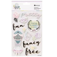 Rosie's Studio Glasshouse Foil Chipboard Stickers