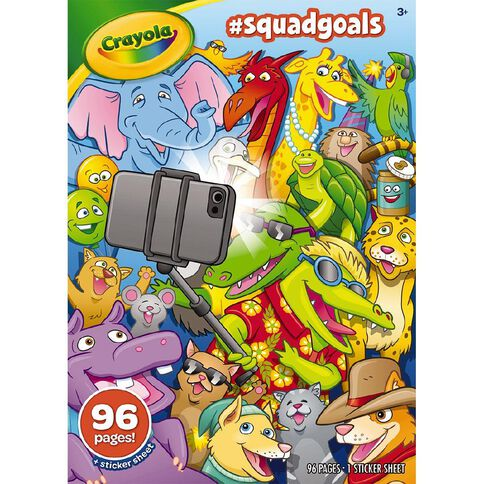 Crayola Colouring Book Squad Goals 96 Page