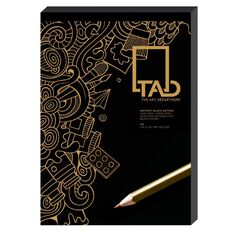 The Art Department Pad Black A4