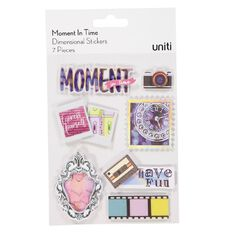 Uniti Moment in Time Dimensional Stickers