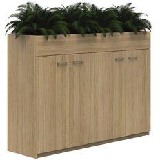 Mascot Planter Cabinet 4 Hinged Doors locking Classic Oak 1200x1800