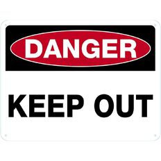 WS Danger Keep Out Sign Large 450mm x 600mm