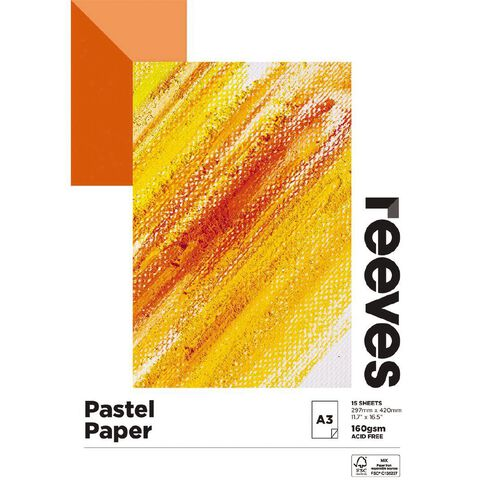 Reeves Pastel Pad 160gsm 15 Sheets A3