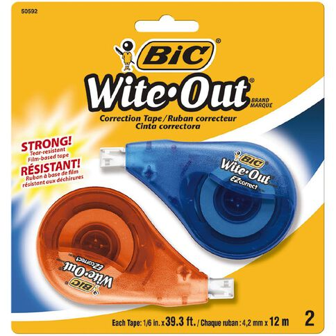 Bic Wite Out Correction Tape 2 Pack