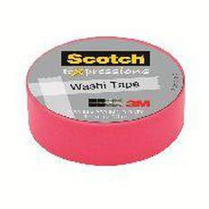 Scotch Washi Craft Tape 15mm x 10m Pink