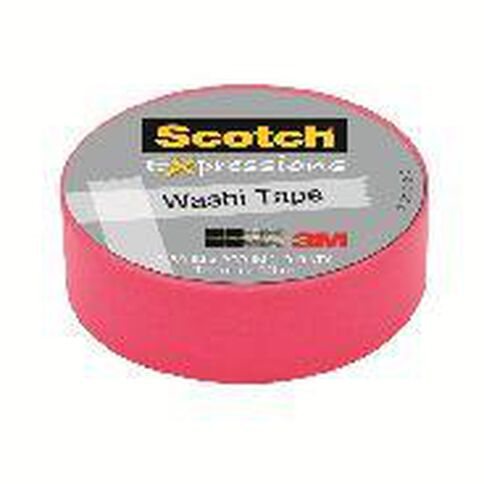 Scotch Washi Craft Tape 15mm x 10m Pink