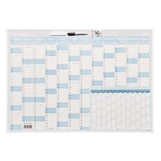 WS 2021 Year Planner 1000x700mm Framed With Planner & Marker A3
