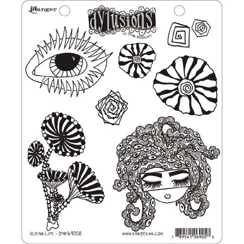Ranger Dylusions Stamp Ocean Life