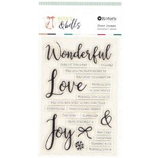 Rosie's Studio Bows & Bells Clear Stamps Phrases