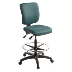 Eden Swatch 2 Lever Midback Tech Chair with Footring Atlantic