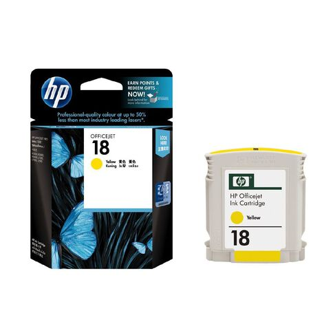 HP Ink 18 Yellow (860 Pages)