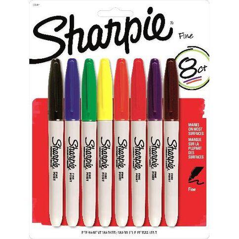 Sharpie Fine 8 Pack Mixed Assortment