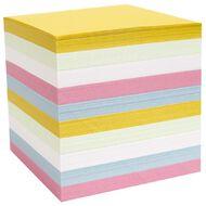 Impact Memo Cube Refill Full Size Pastel Colour