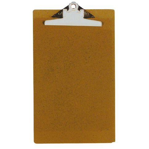 GBP Stationery Foolscap Hardboard Clipboard Brown